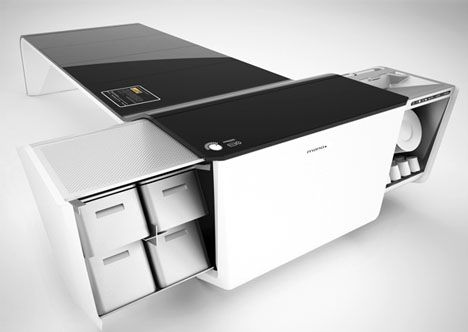 Space Saving Convertible Kitchen/dining At Dornob.com Seriously   How Cool  Is That