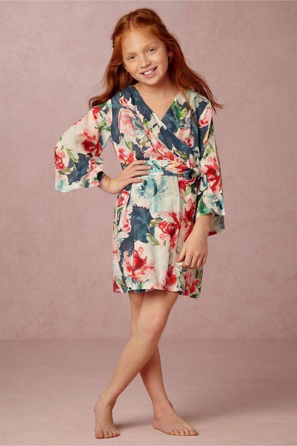 Botanic Garden Flower Girl Robe #flowergirl #bridesmaid #robes ...
