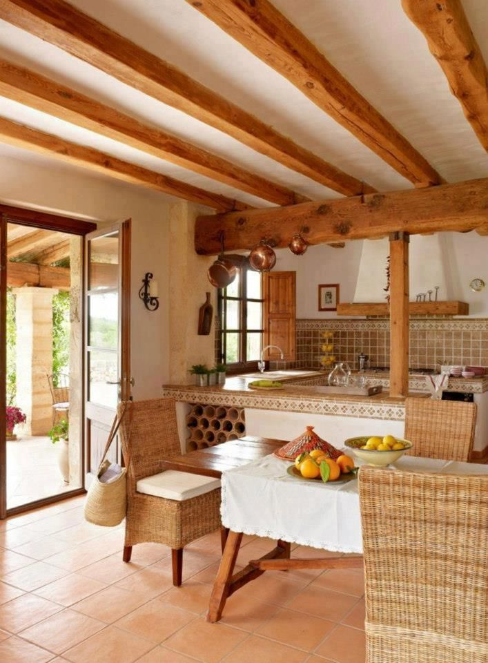 Cozinha r stica r stico o campo pinterest casas for Cocinas espanolas modernas