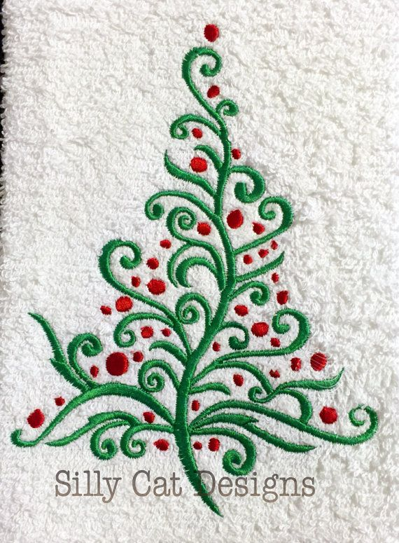 Decorative Christmas Tree Embroidery Design In 2020 Christmas Tree Embroidery Design Embroidery Designs Best Embroidery Machine