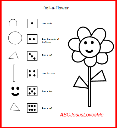 Roll-a-Flower Game- can be a group game  Visual Perceptual  First