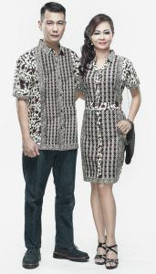 Model Baju Batik Gaun Couple 6