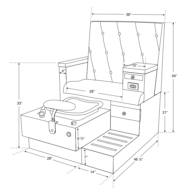 Image Result For Pedicure Station Dimensions Pedicure Chair Pedicure Station Pedicure