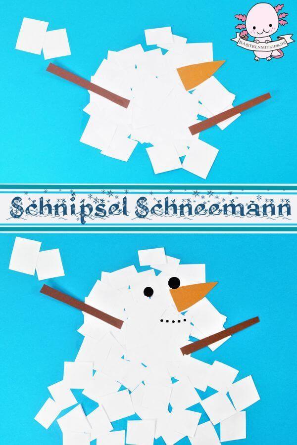 Schneemann basteln mit Kindern #weihnachtsbastelnmitkindernunter3