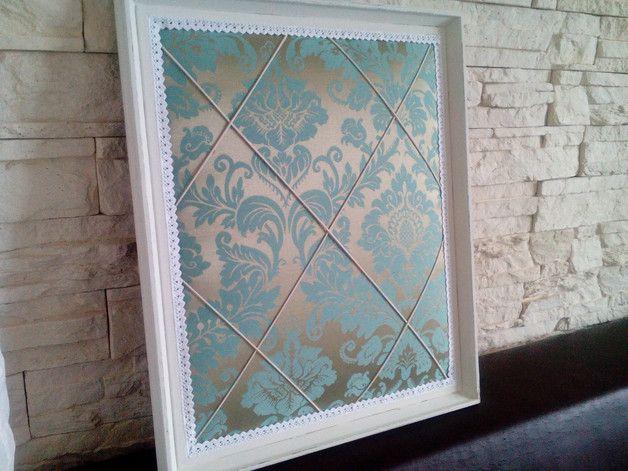 Pinnw nde luxus memoboard shabby pinnwand vintage rahmen ein designerst ck von du coeur bei - Selbstgemachte bilderrahmen ...