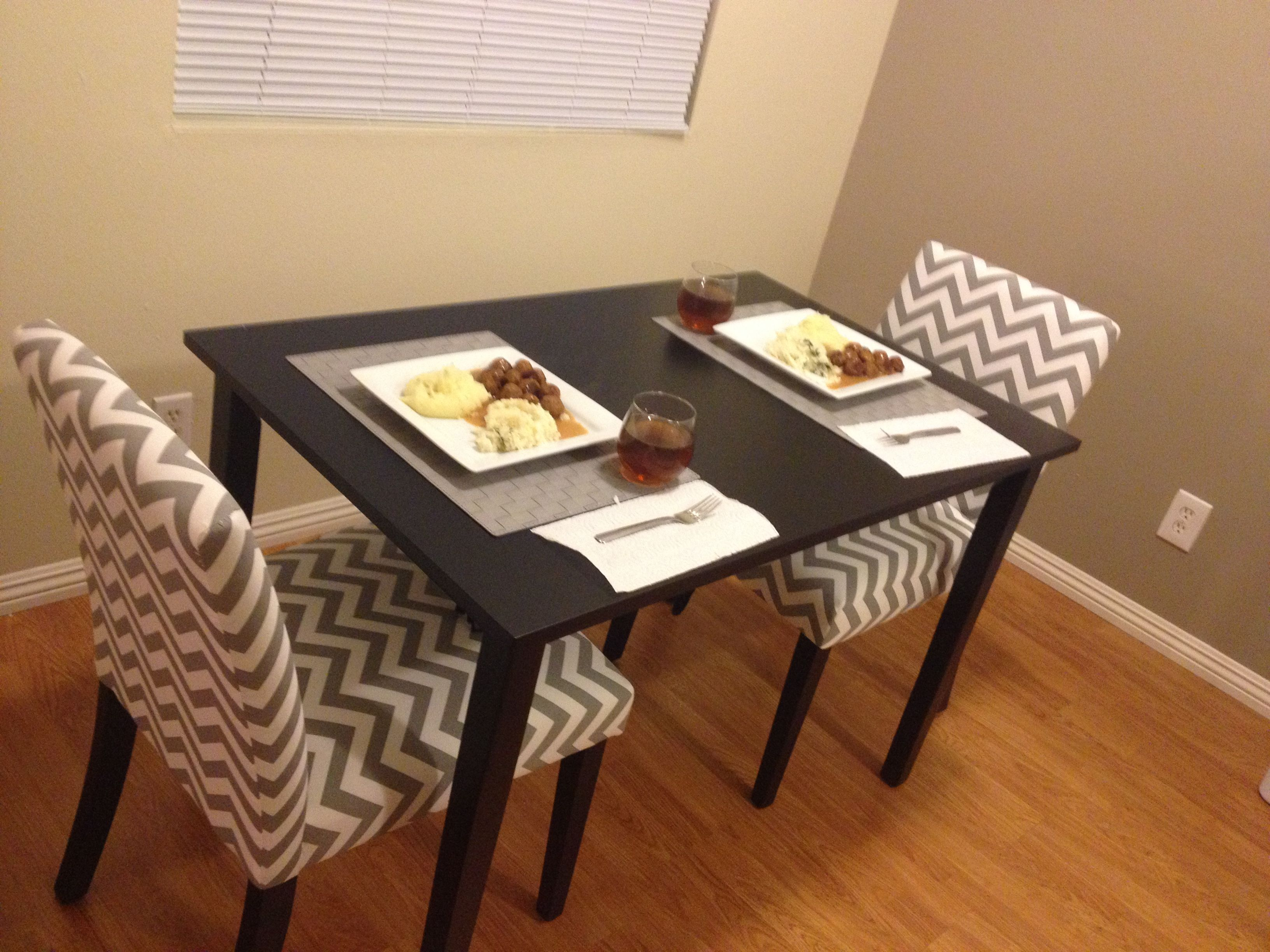 For a small kitchen space Small table for 9. Walmart 9.9 Chevron ...