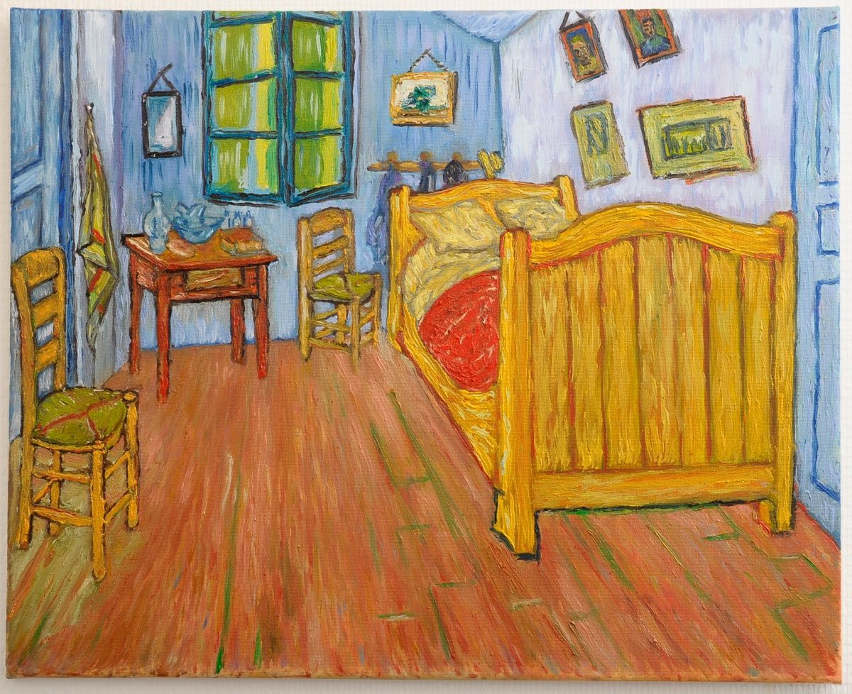 peinture la chambre de van gogh arles version 1 peinte la main reproduction d 39 art l. Black Bedroom Furniture Sets. Home Design Ideas