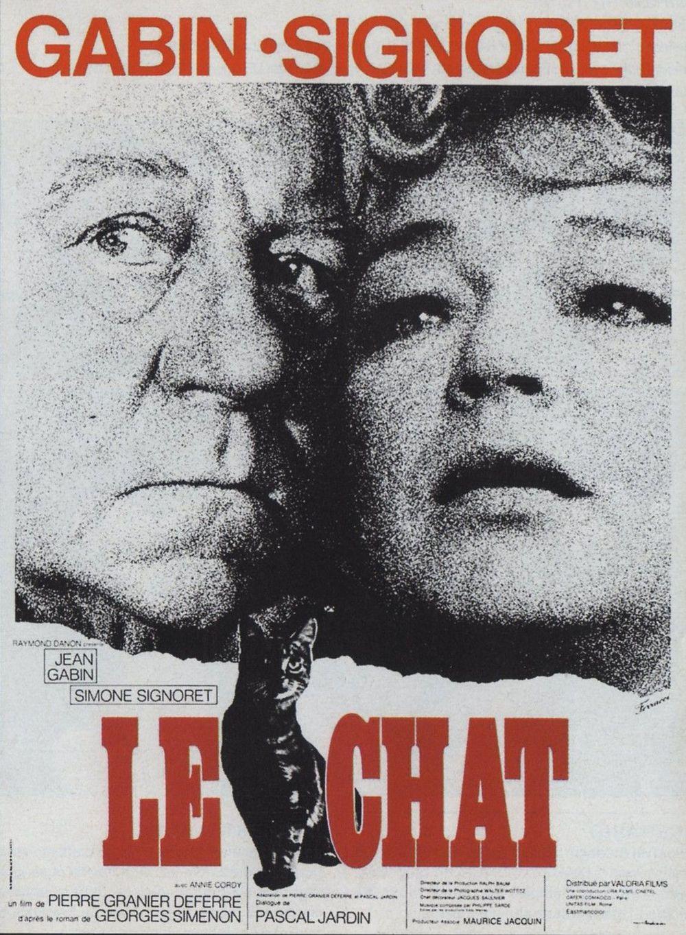 Locandina di Le chat (1971). Di Pierre Granier-Deferre. | Poster ...