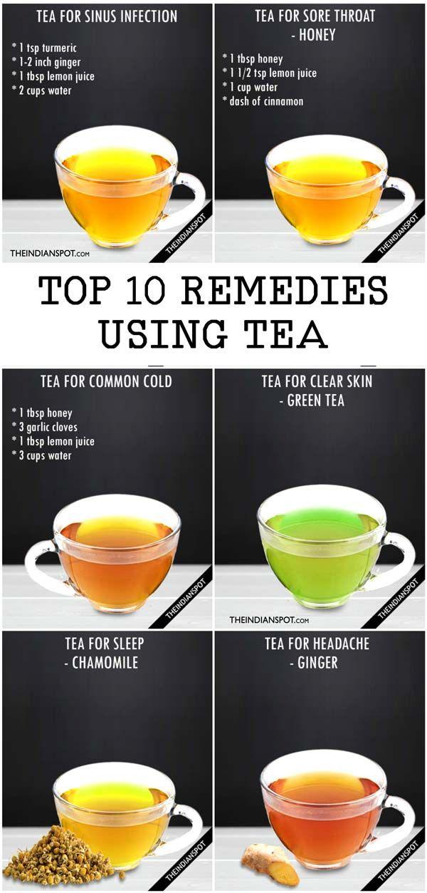 8 Best Healing Tea Recipes For Sinus Sore Throat Headache And More 8230 Healing Tea Recipes Healing Tea Detox Tea Recipe