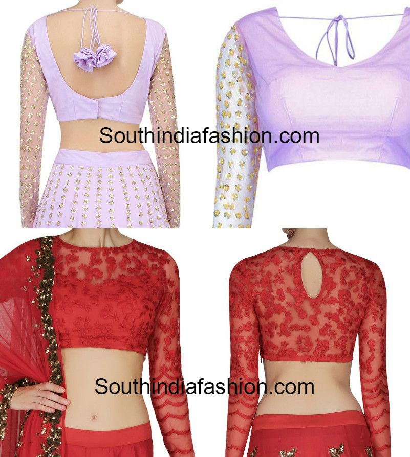 c5443548f6cacd Elegance of saree can be increased with net blouse designs. Blouse with net  sleeves