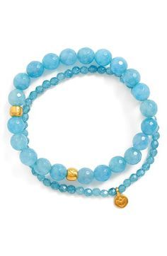 Satya Jewelry Beaded Stretch Bracelets (Set of 2) available at #Nordstrom