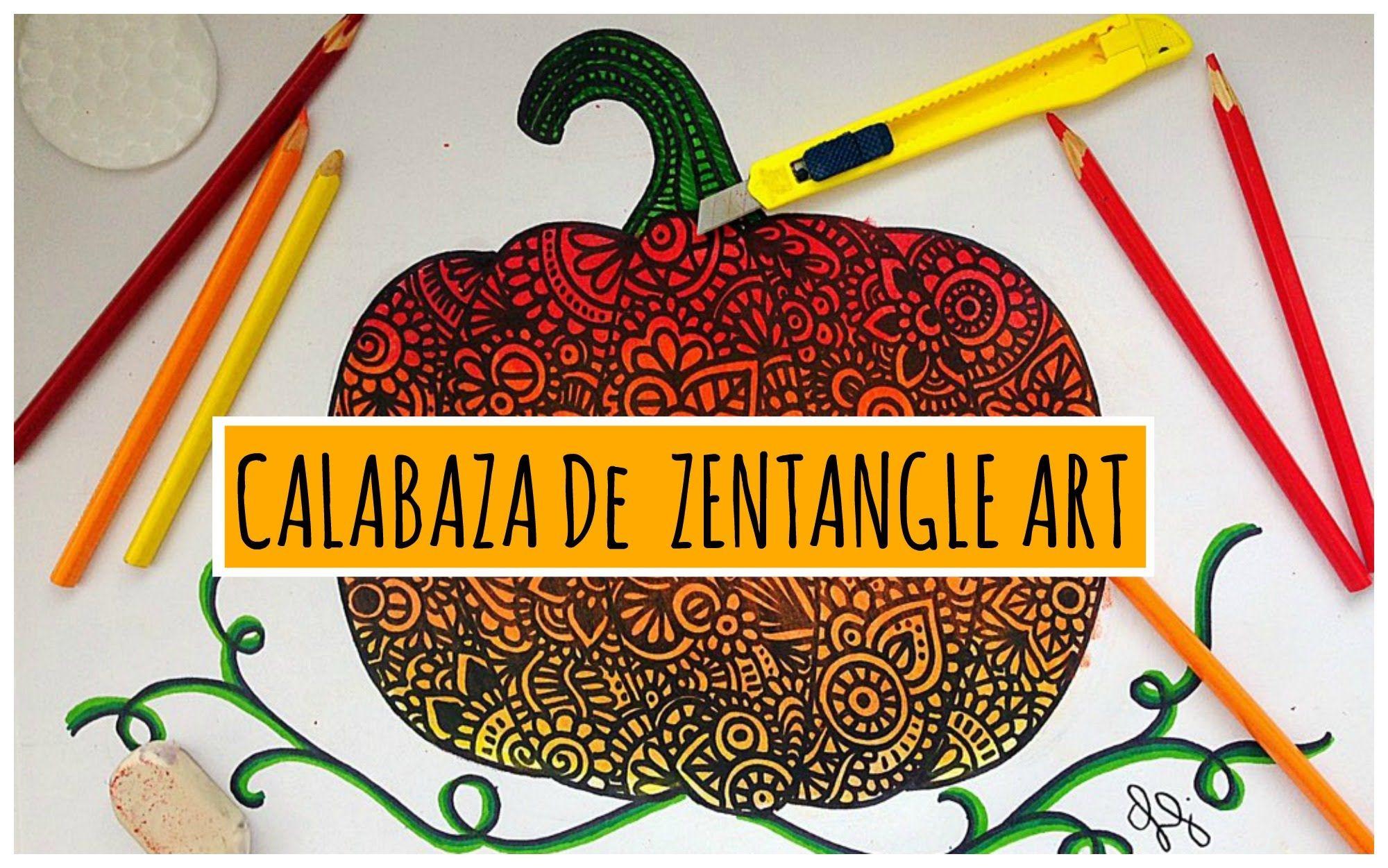 Calabaza de Zentangle Art | ZENTANGLE ART | Pinterest | Zentangle y ...