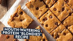 Mouth Watering Protein-Blondies! A tasty dessert with a health benefit!