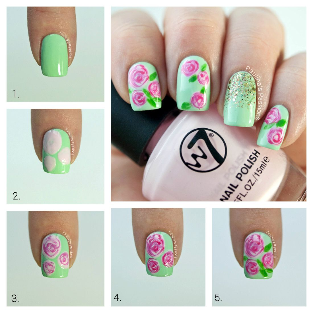Roses Nail Art Tutorial