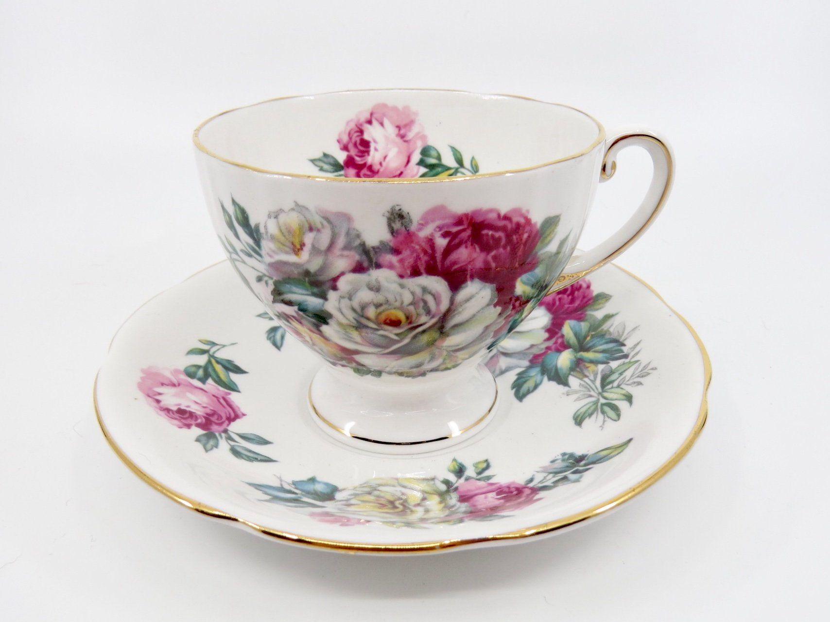 Royal Standard Irish Elegance Tea Cup And Saucer Pink