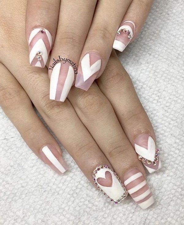 50 White Nail Art Ideas | White nails, White nail art and Coffin nails