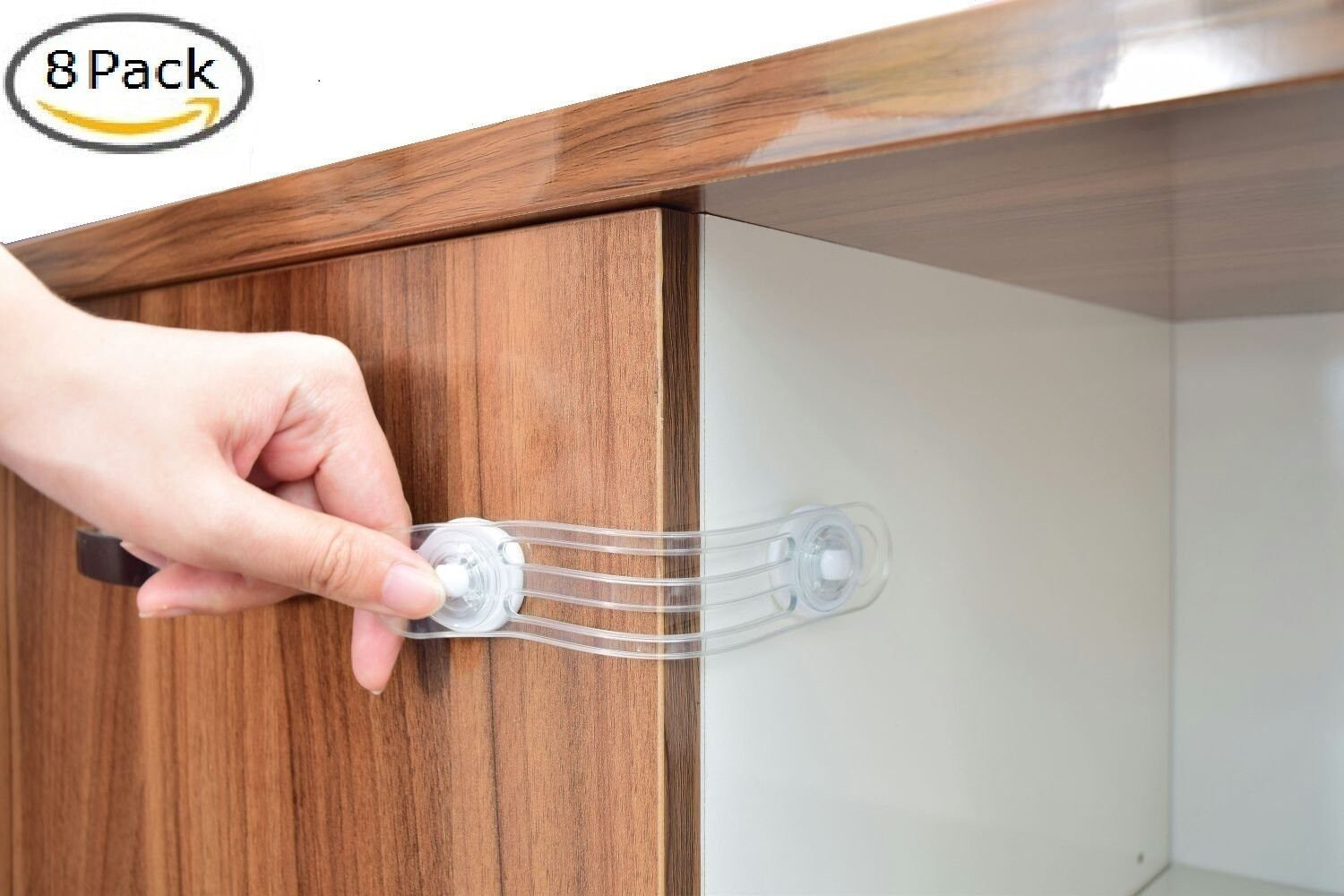 8-Pack Childproofing Cabinet Locks