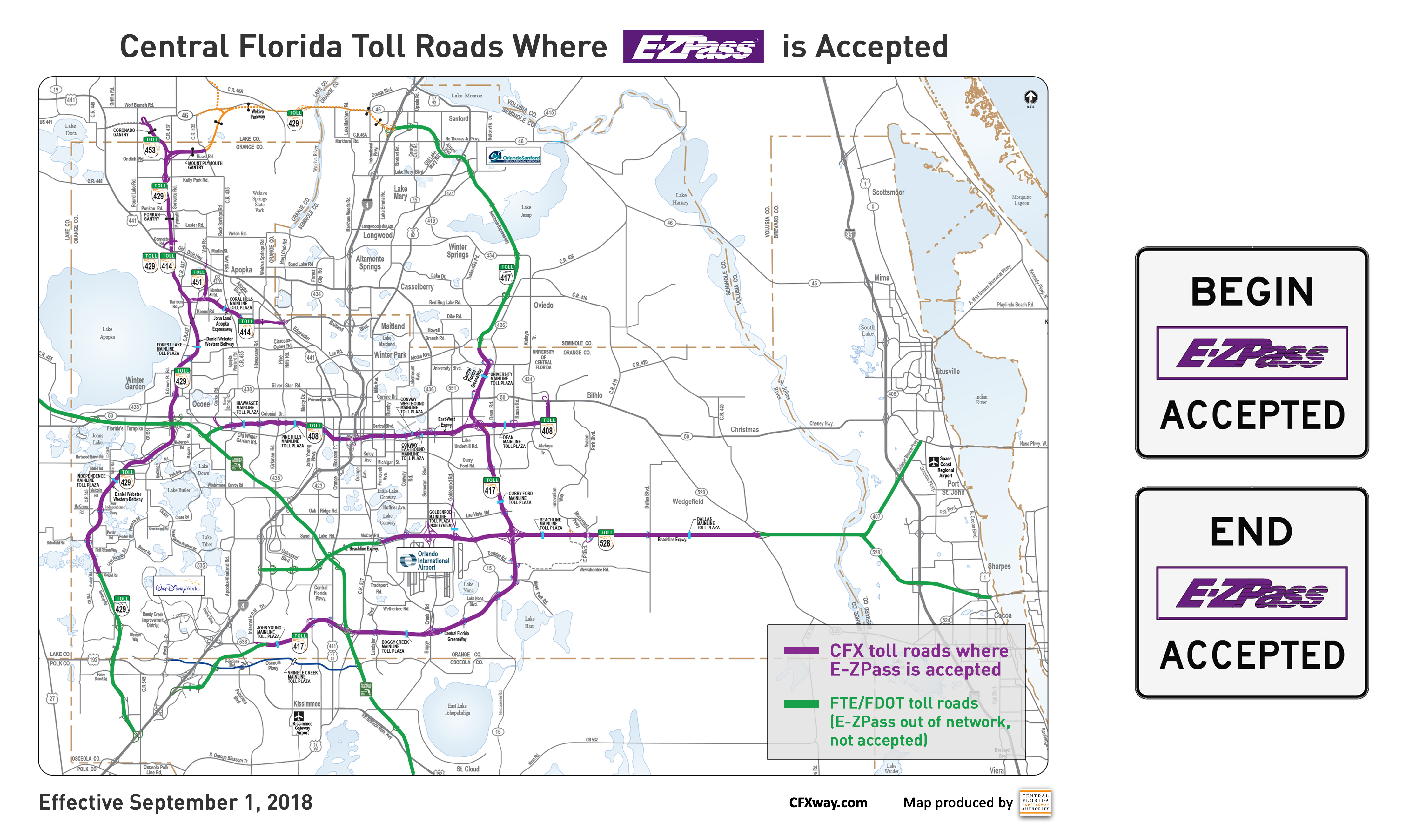 EZPass Accepted on Our Roads Central Florida Expressway