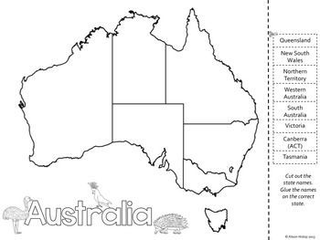 Map Of Australia Labelled.Australia Day Resources And Activities Australia Australia Map