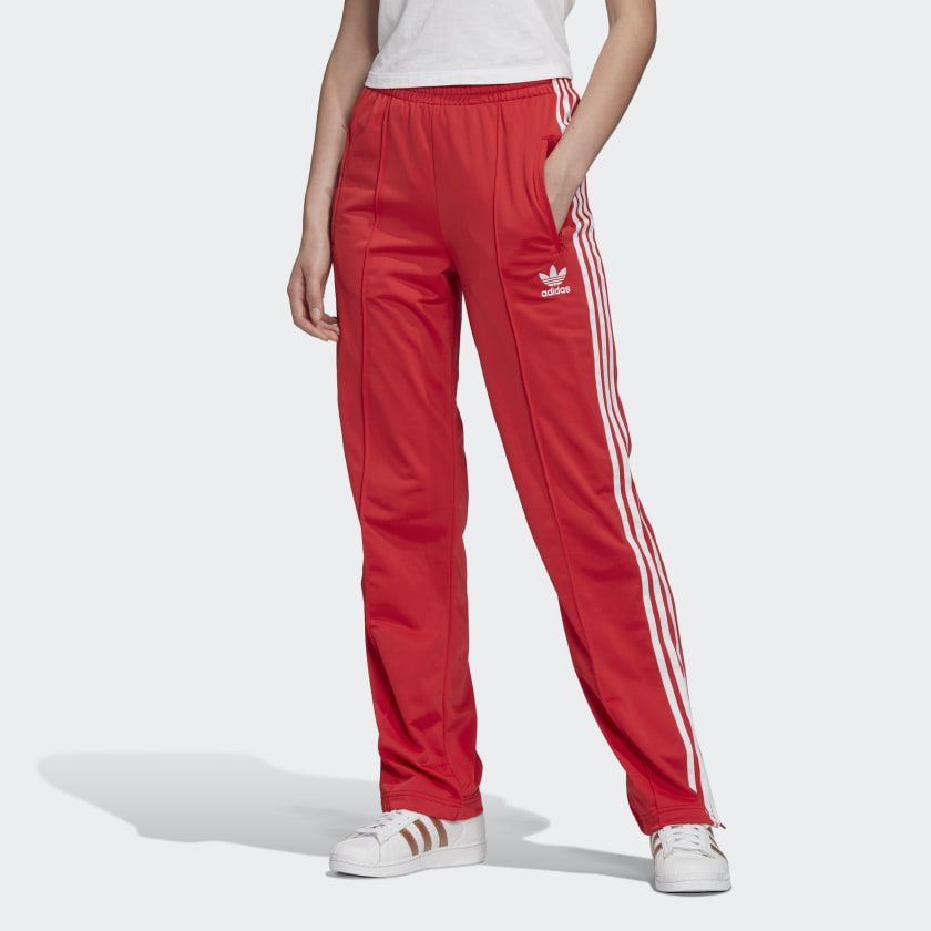 adidas firebird track pants red