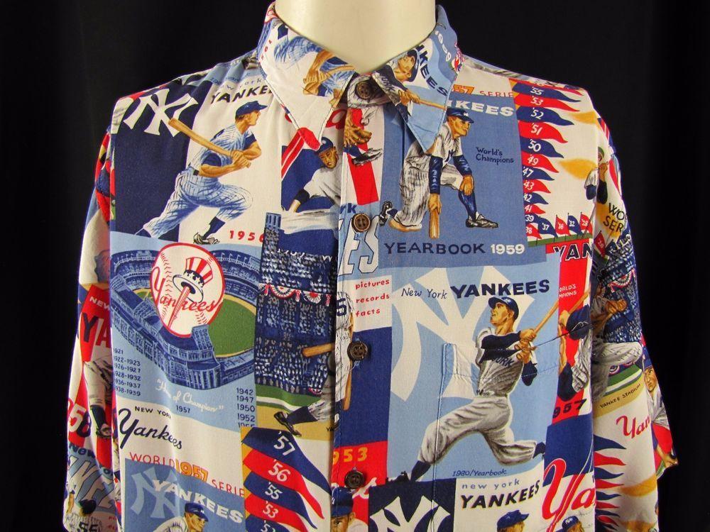 84fd2f6a NEW YORK YANKEES Reyn Spooner Hawaiian Shirt