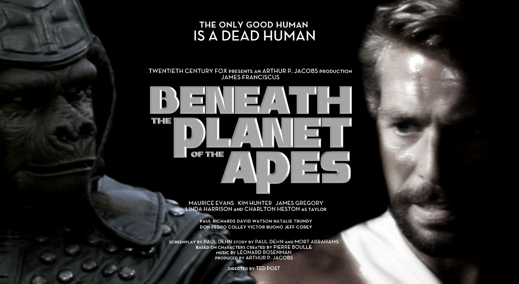 Beneath The Planet Of The Apes 1970 Movie Poster Featuring James Gregory As Ursus And James Franc Planet Of The Apes Science Fiction Movies Plant Of The Apes