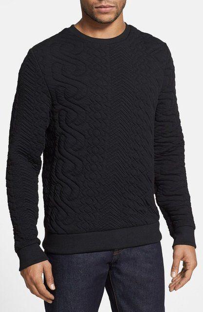 Quilted Crewneck Sweatshirt by Topman   Sweatshirt