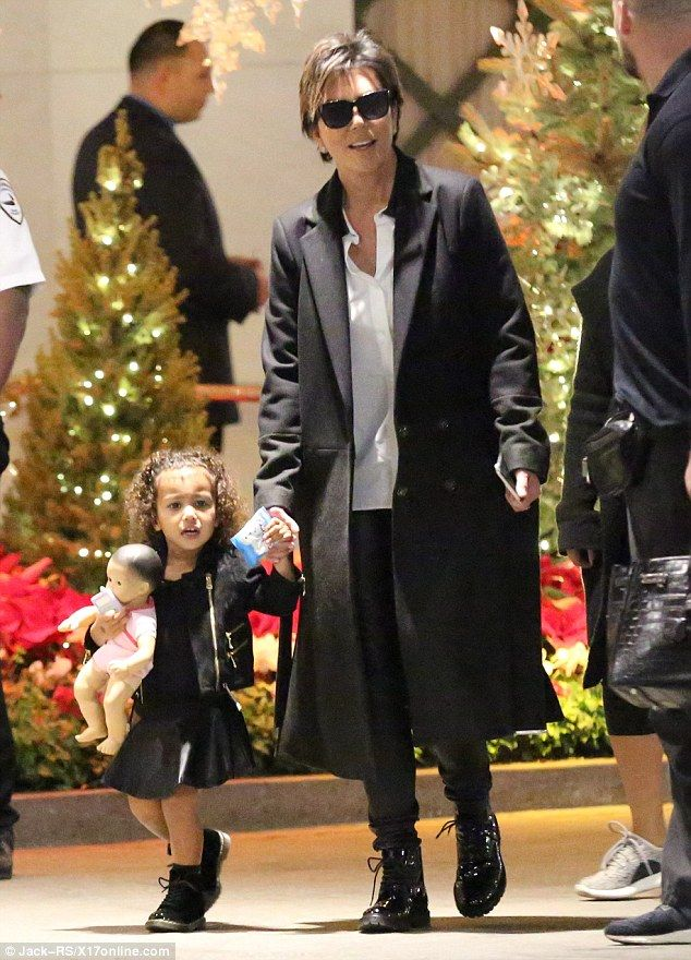 High risk but worth it: Little North (pictured with grandmother Kris Jenner last month) was born five weeks early as her mom's blood pressure spiked leading to doctors intervening