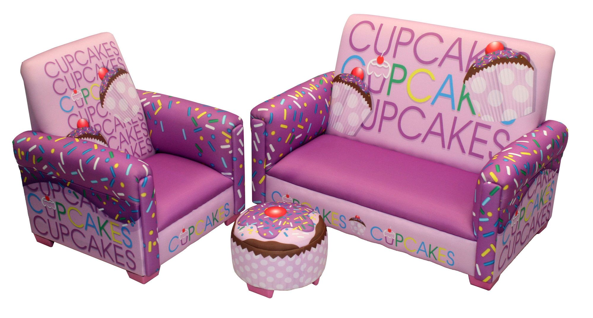 Purple Bedroom Chairs Purple Cupcake Sofa And Ottoman For Girls Purple Bedroom