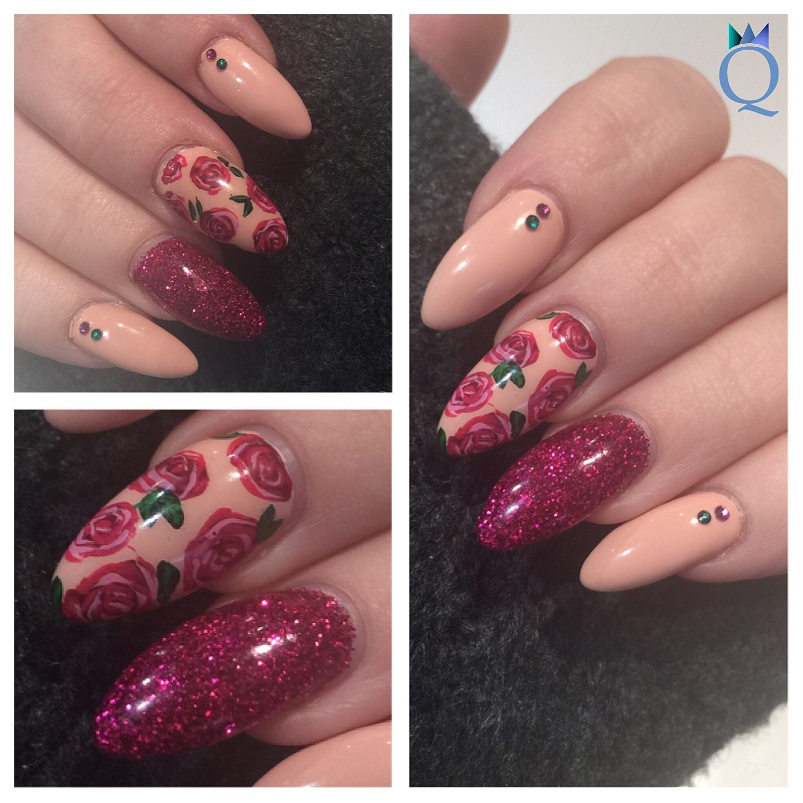 Meine Nägel nach 1 Woche / my nails after 1 week #almondnails #nails ...