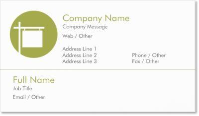 real estate realtor Standard Business Cards