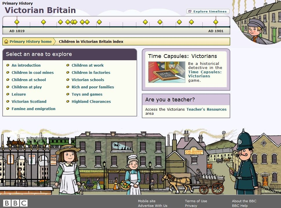 VICTORIAN BRITAIN - A site designed to teach kids about the Victorian age.