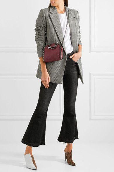 40f52f48e407 STELLA MCCARTNEY The Falabella tiny sophisticated burgundy faux brushed-leather  shoulder bag