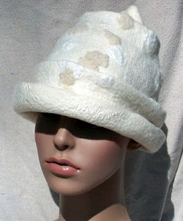 gorgeous wool felted hat by Suzanne Higgs