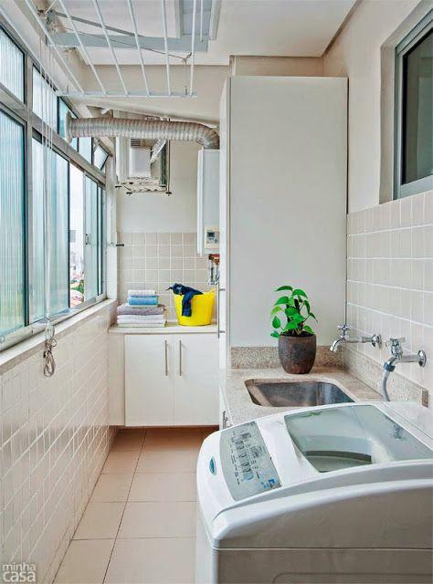 Ideas para decorar una lavander a peque a by artesydisenos for Colores para interiores pequenos