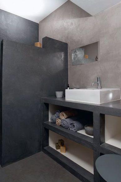 Repeindre carrelage salle de bain  les 3 erreurs à éviter avec la - peindre sur un enduit cire