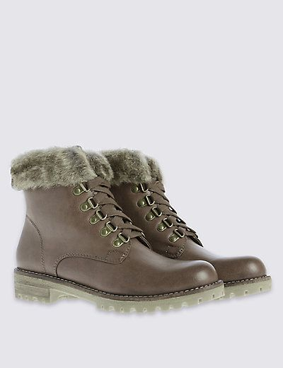 616726c41f10 Fur Hiker Boots with Insolia Flex®