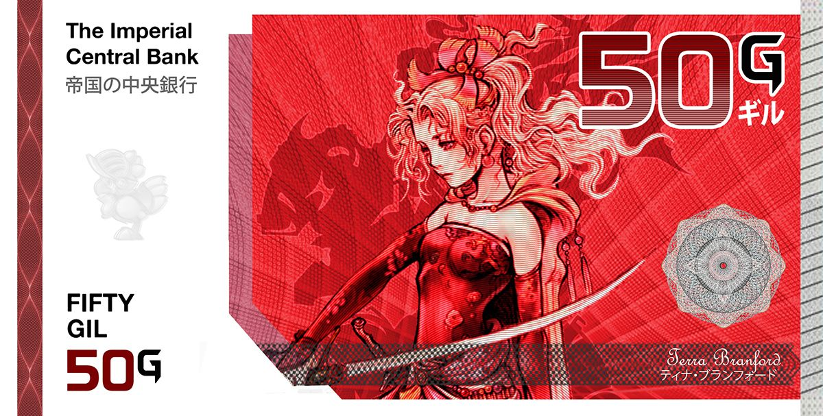 Final Fantasy Gil Banknote Collection On Behance Banknote Collection Final Fantasy Bank Notes