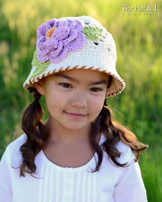 Crochet Pattern In Full Bloom Crochet Sun Hat Pattern Cloche
