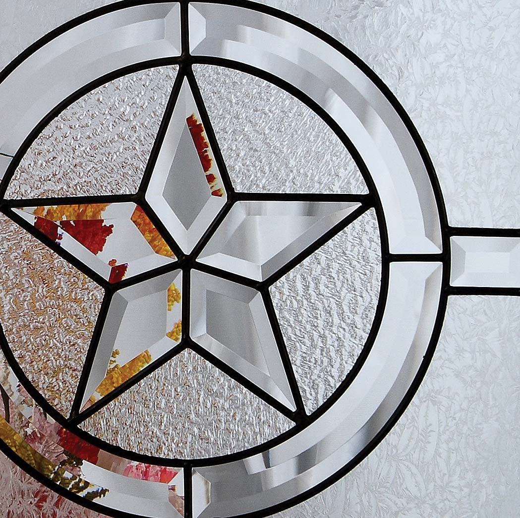 Rustic Stars Texas Star Glass Entry Doors For Texas Rustic And Western Decor