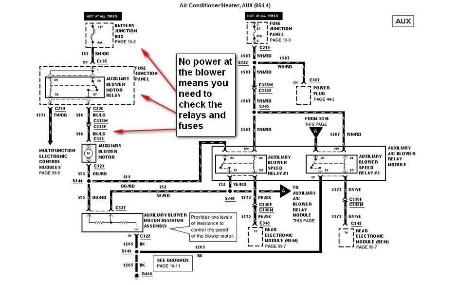 free wiring diagram of a 2007 expedition blower motor