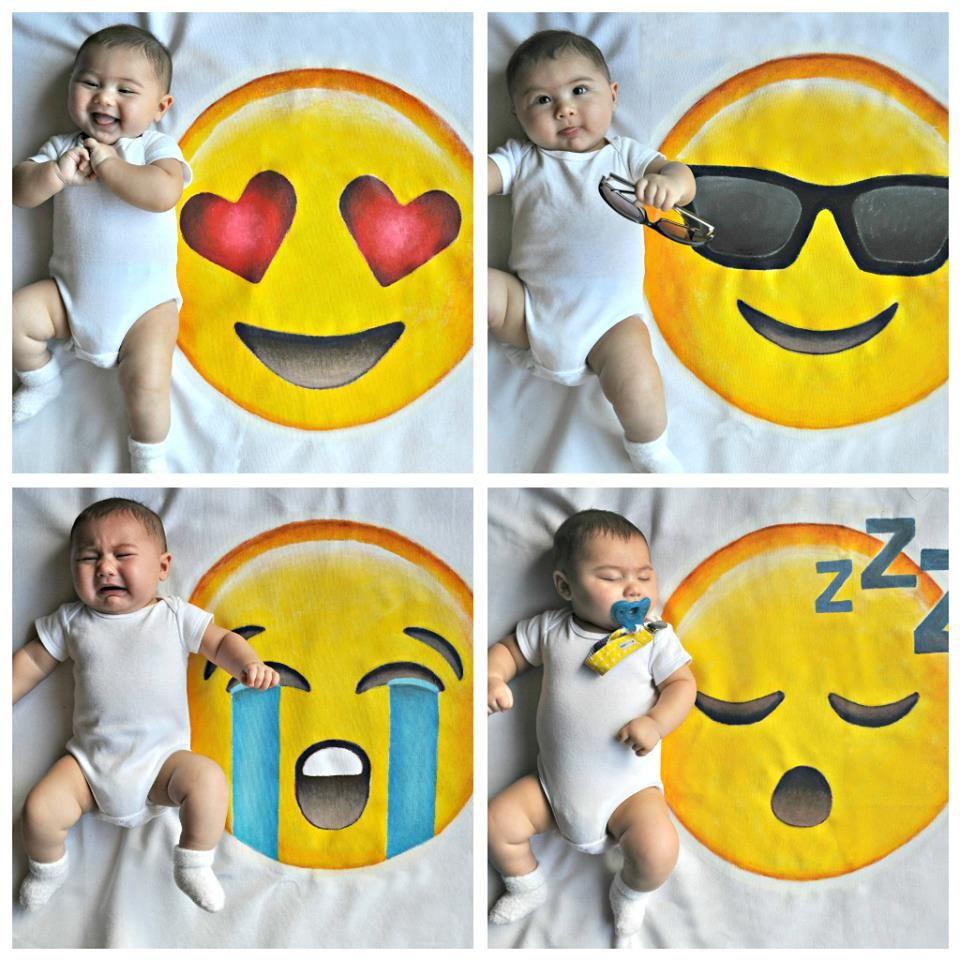 Emoji baby photography, emoji, fun baby photography, emoji photography    Cool baby stuff, Baby photography, Photography