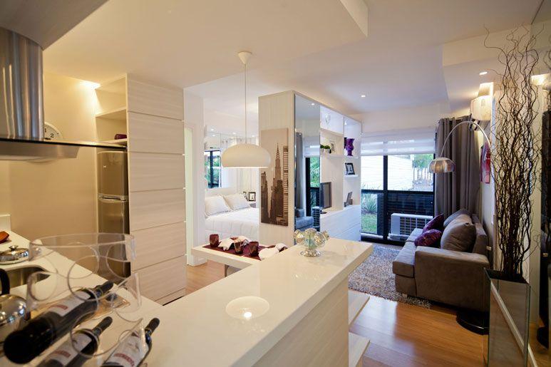Apartamentos compactos decorados pesquisa google for Apartamentos decorados pequenos
