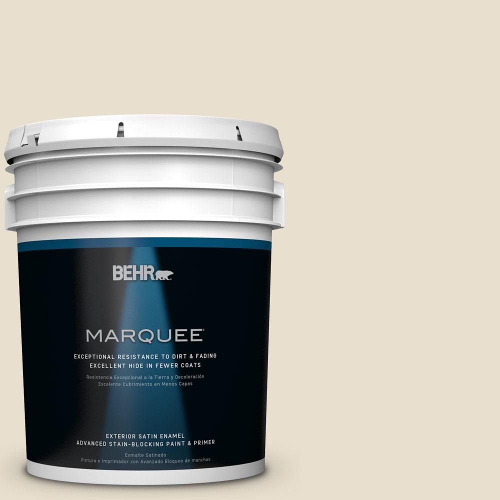 BEHR MARQUEE 5-gal. #ppl-60 Toasted Barley Satin Enamel Exterior Paint