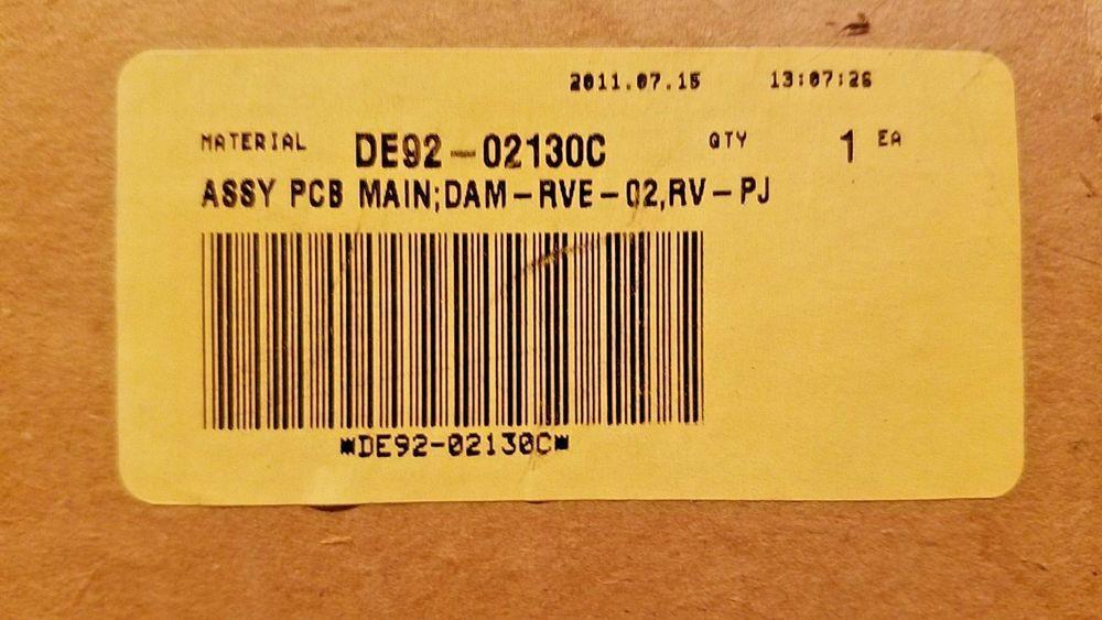 De92 02130c Samsung Dishwasher Main Control Board New Part Open Box Samsung Dishwasher Dishwasher Samsung
