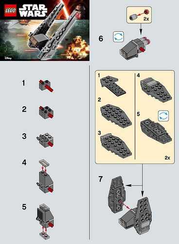 Lego Star Wars The Force Awakens Polybag Building Instructions Available Lego Star Wars Mini Lego Star Wars Lego Projects