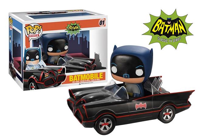 A Funko lançou uma nova versão do Batmóvel da série de televisão do Batman de 1966. Ilustração do Blog de Brinquedo 31.10.13