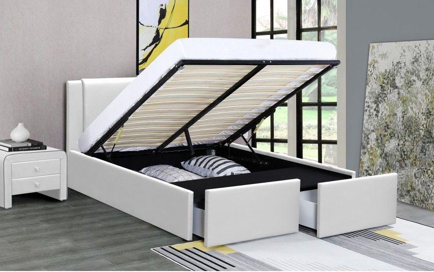 lit coffre avec 2 tiroirs 140x190 cm