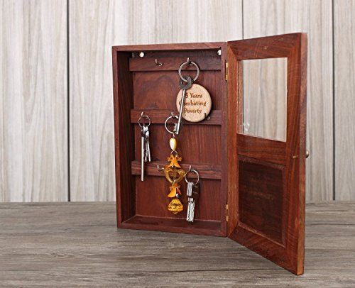 Decorative Key Box For The Wall Handmade Decorative Wooden Wall Mounted Key Cabinet With Glass