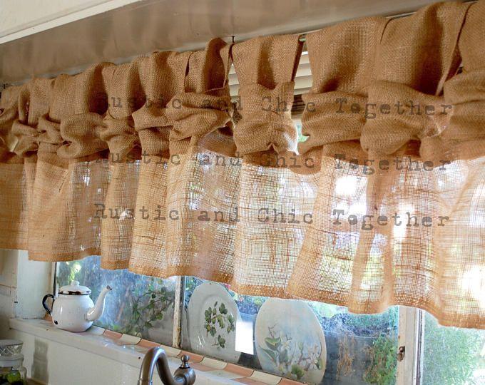 Creative Window Treatments Shabby Chic Burlap Curtains